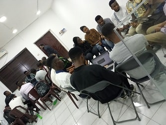 Photo 3 of of Port-Harcourt School Of AI members in a study group