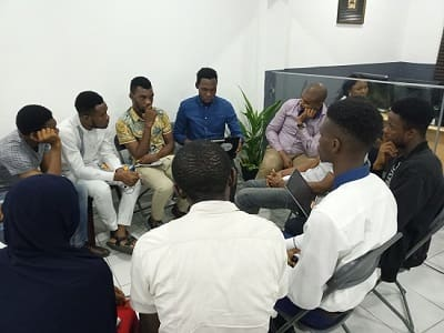 Photo 4 of of Port-Harcourt School Of AI members in a study group