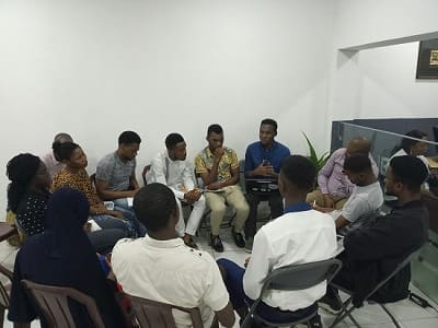 Photo 5 of of Port-Harcourt School Of AI members in a study group